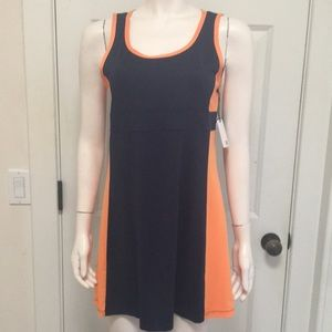 Tail Tennis Dress in Navy Blue and Sherbet, M, NWT